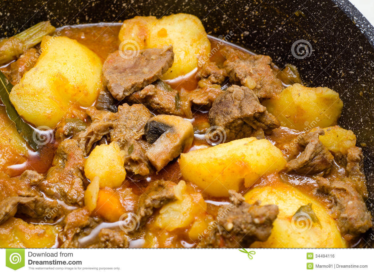 Meat, Potato And Mushroom Stew Royalty Free Stock ImageImage