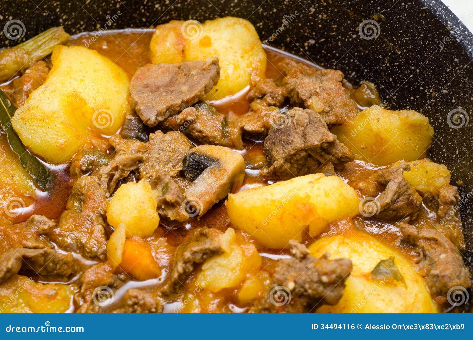 Meat, Potato And Mushroom Stew Royalty Free Stock Image - Image ...