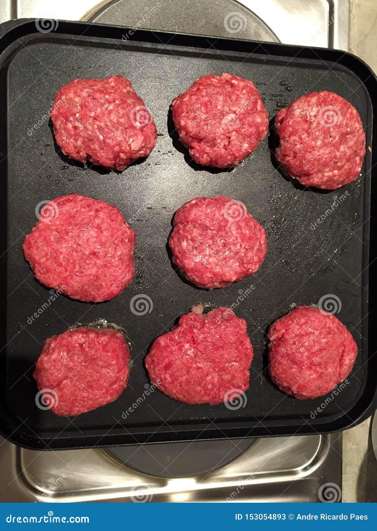 Meat prepared to make hamburger