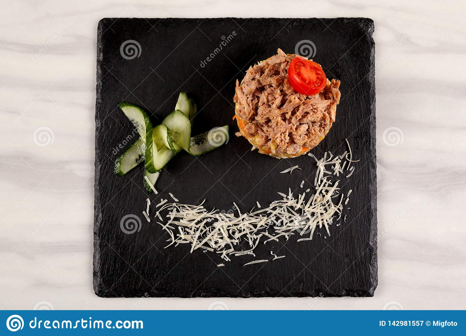 Food in the plate