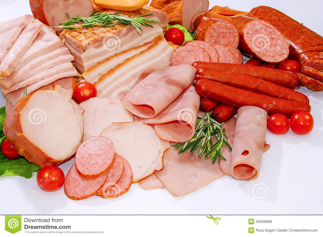 Meat and sausages