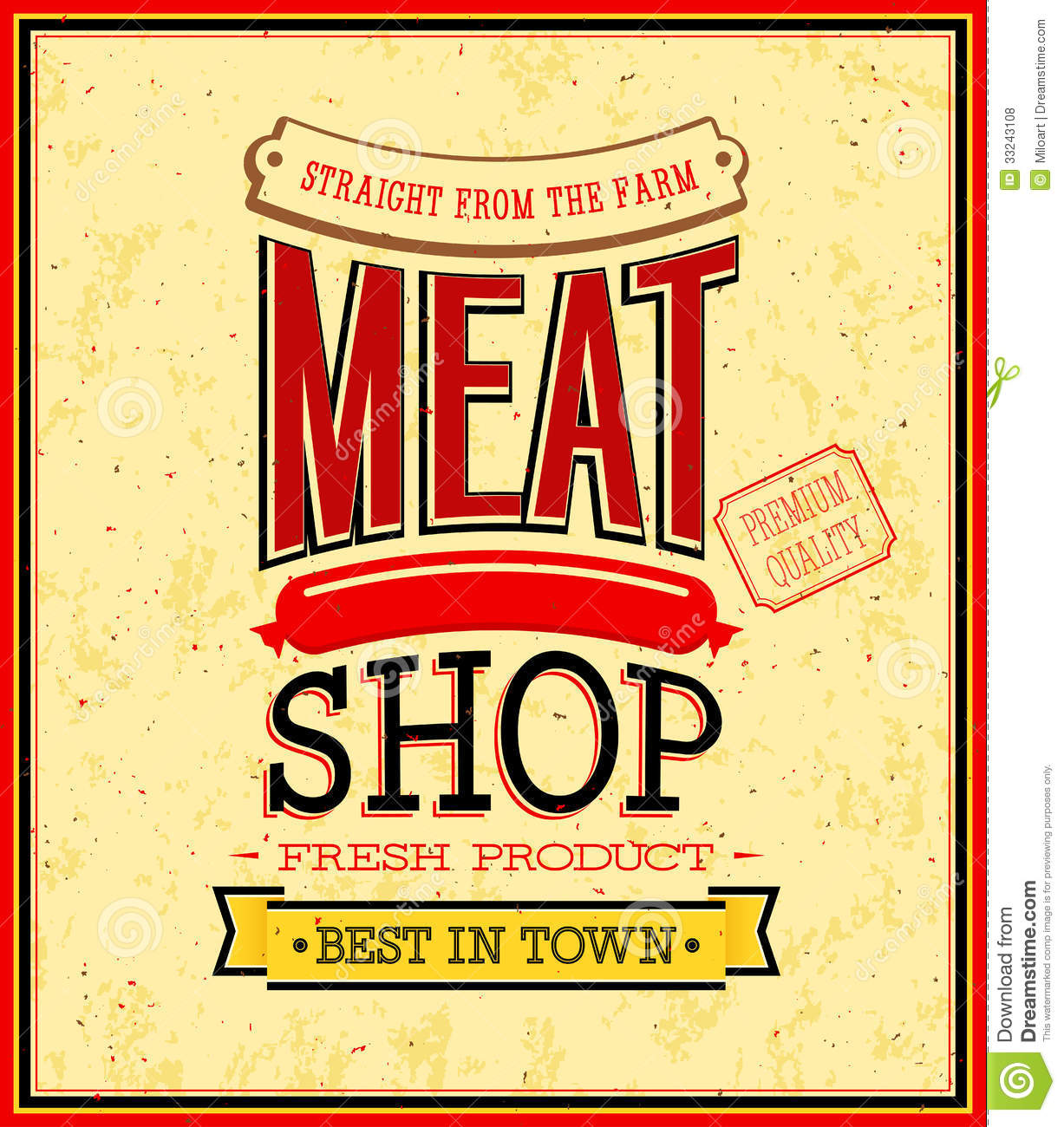 Meat Shop Design Royalty Free Stock Photos Image 33243108