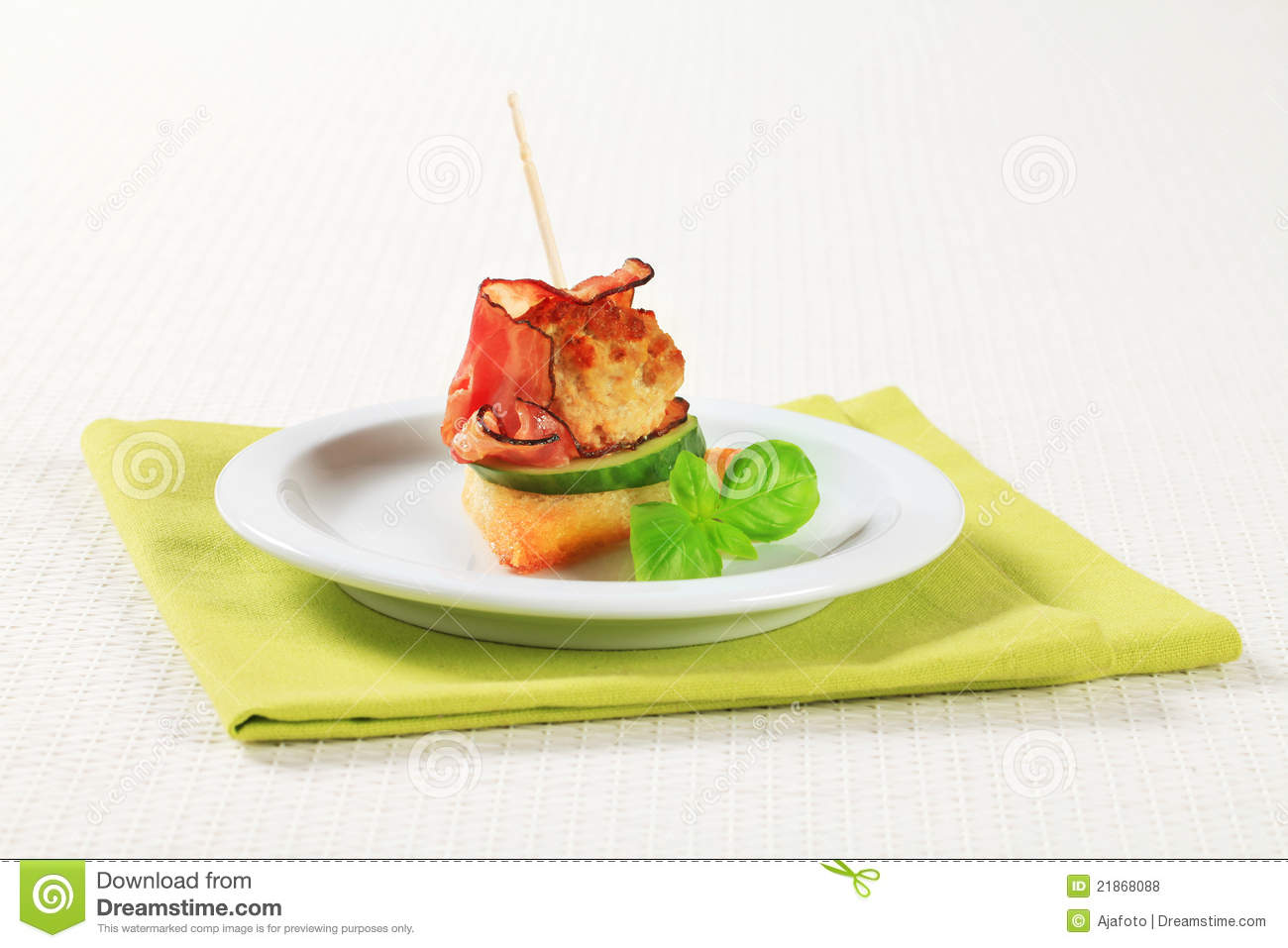 Meatball canape royalty free stock photos image 21868088 for Meatball canape
