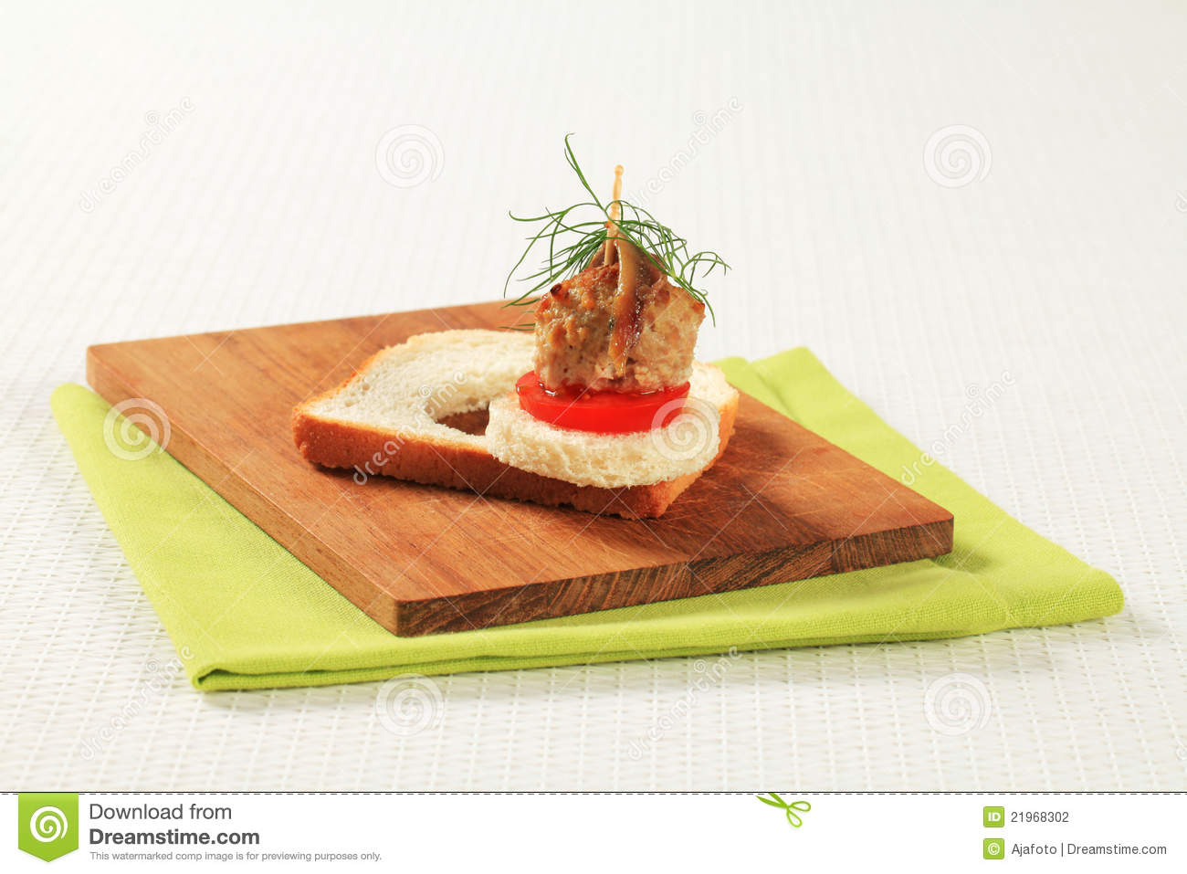 Meatball canape stock photography image 21968302 for Meatball canape