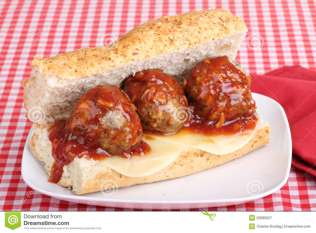 Meatball Sandwich Royalty Free Stock Photography - Image: 20685627