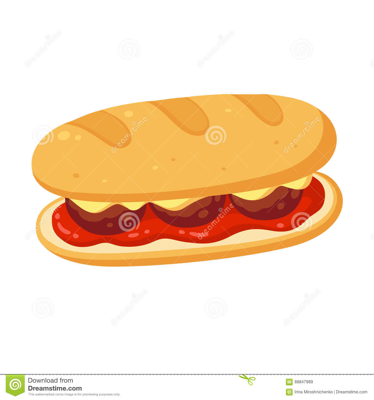 Submarine Sandwich Stock Illustrations – 49 Submarine Sandwich ...