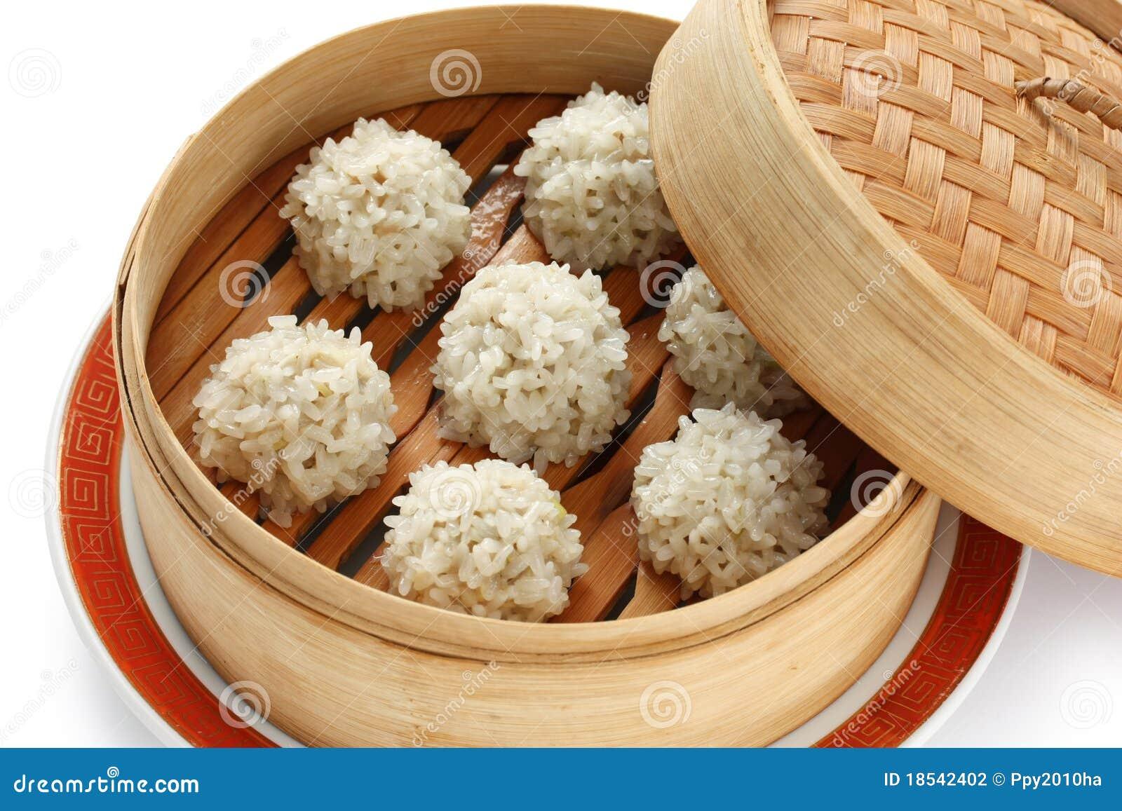 Meatballs no navio de bambu, FO chinesas do arroz