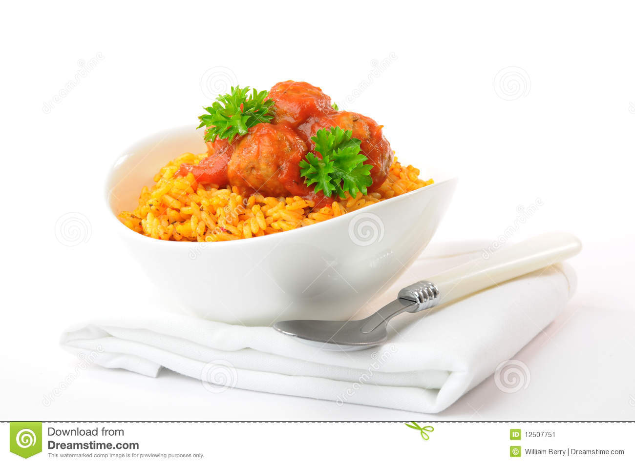 Meatballs And Tomato Sauce Stock Image - Image: 12507751