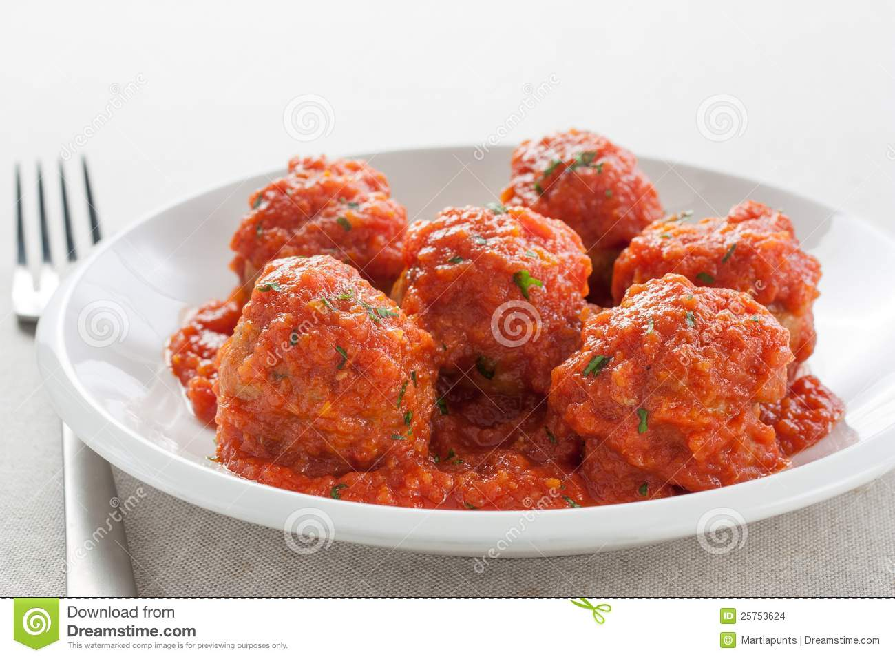 Meatballs With Tomato Sauce Stock Images - Image: 25753624