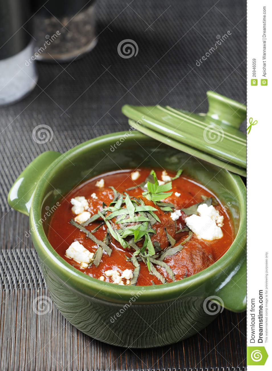 Meatballs And Tomato Sauce Royalty Free Stock Images - Image: 26946059