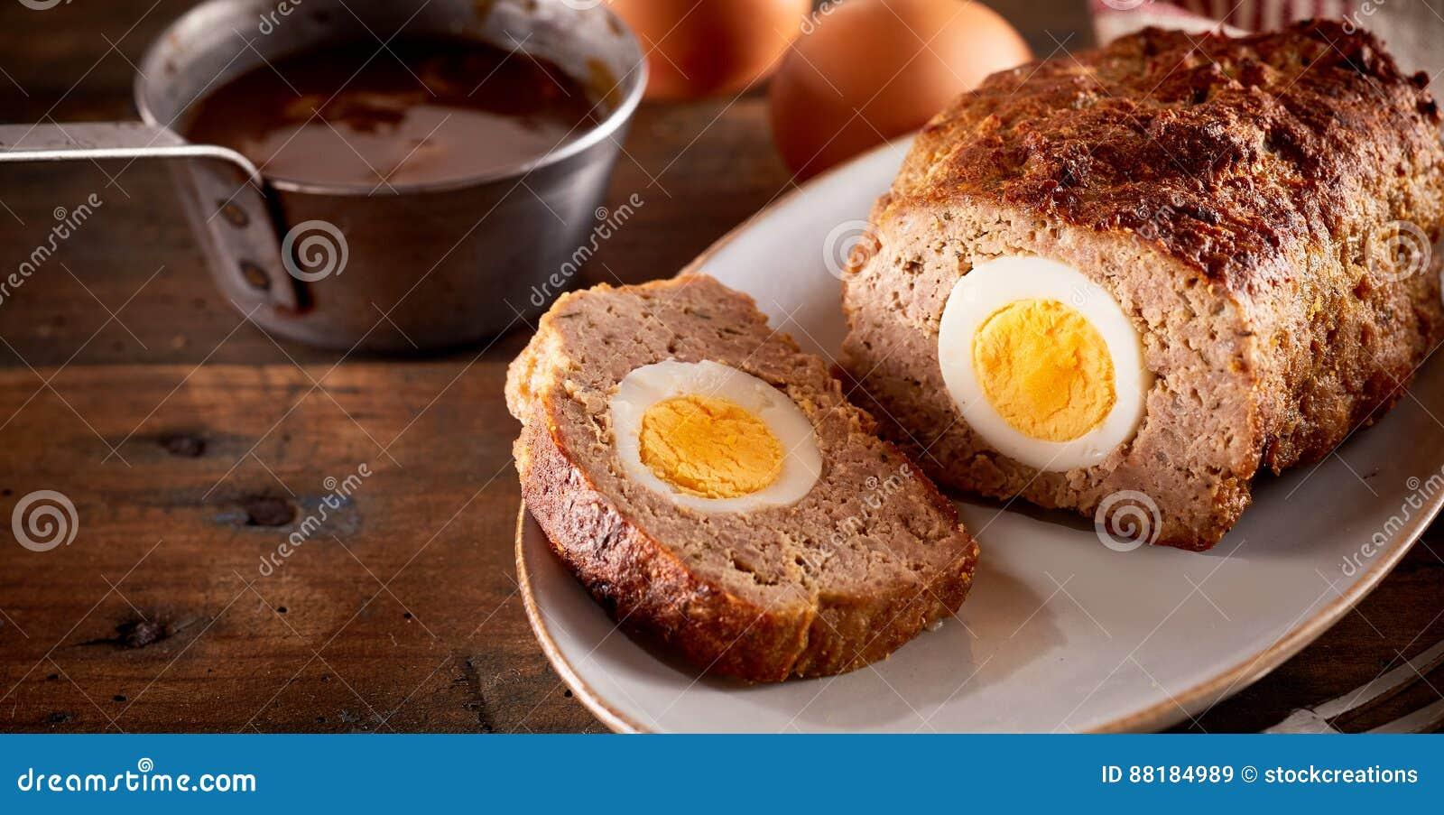 Meatloaf com ovo