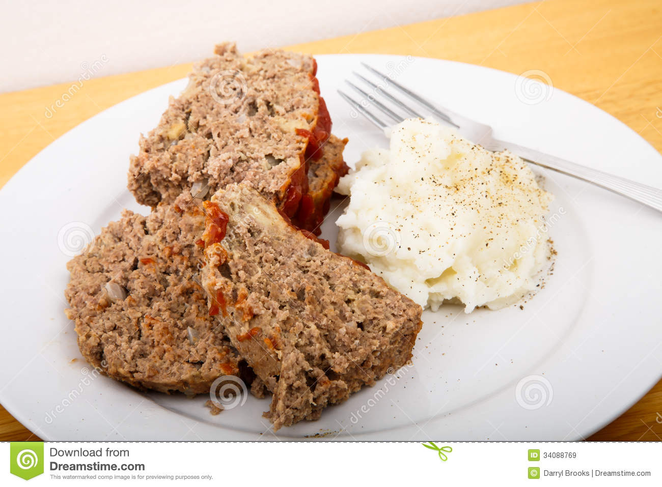 Meatloaf And Mashed Potatoes Royalty Free Stock Images - Image ...
