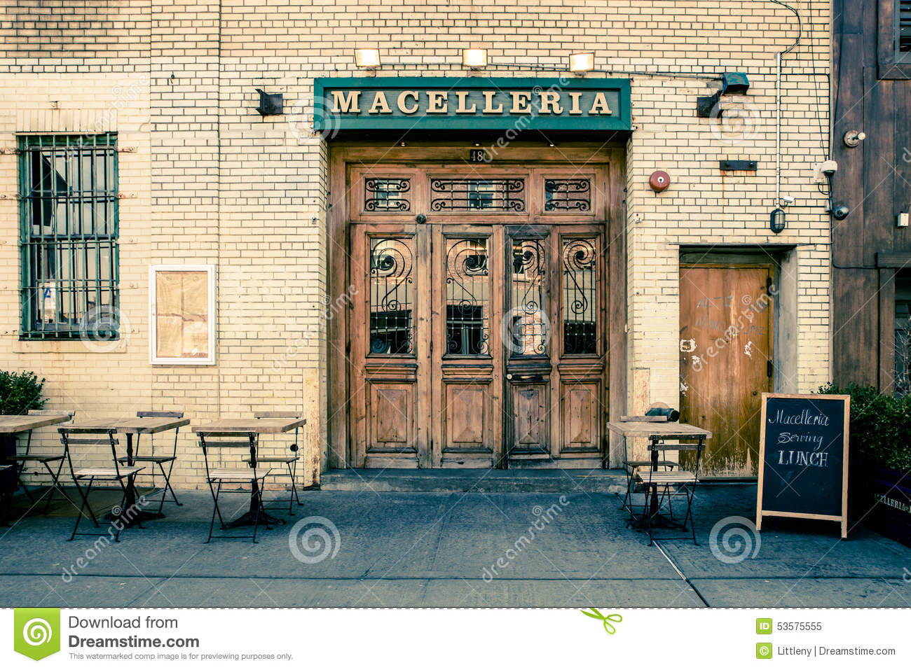 Meatpacking District Restaurant Nyc Editorial Image Image Of