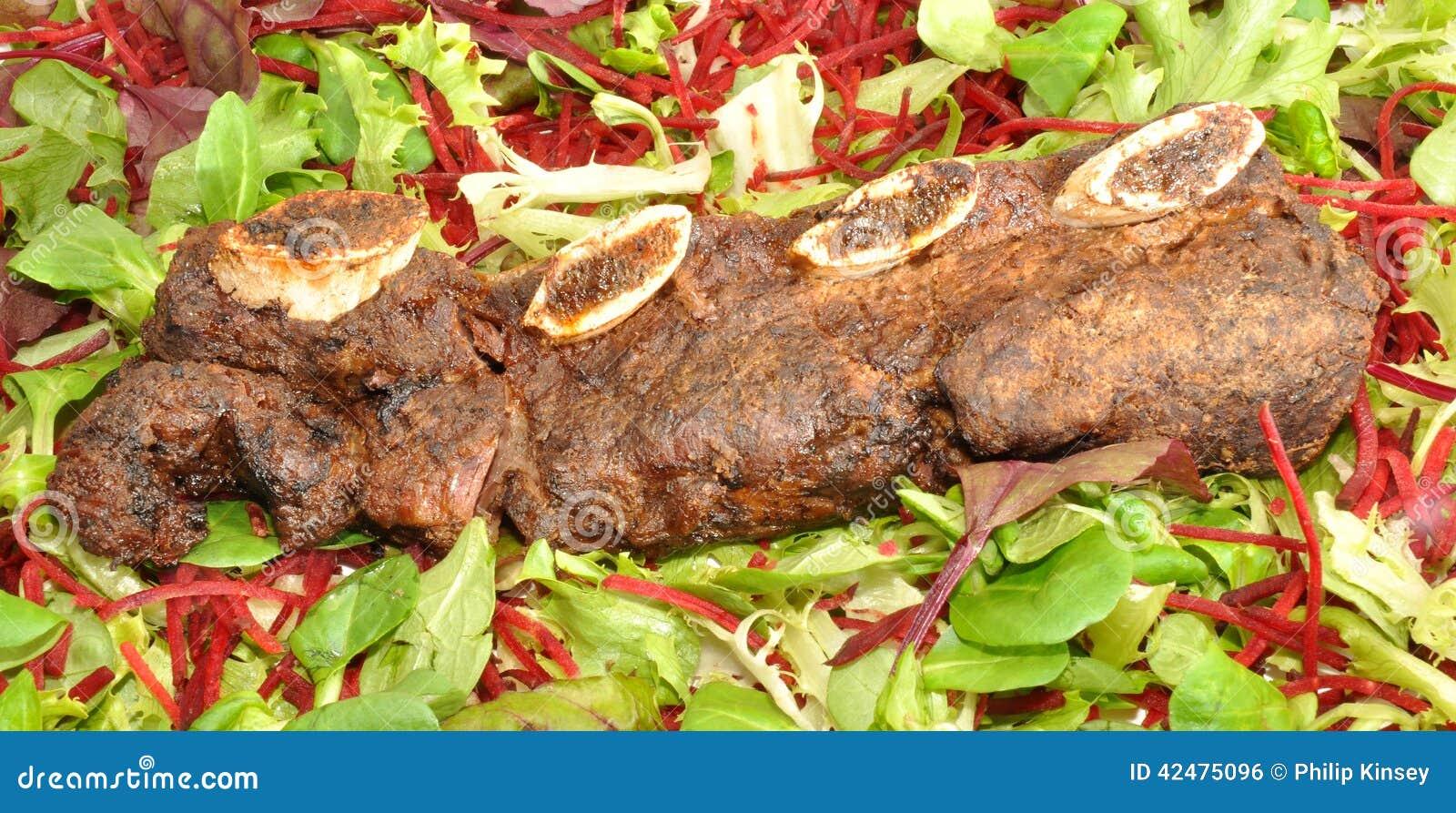 Meaty steknötköttstöd