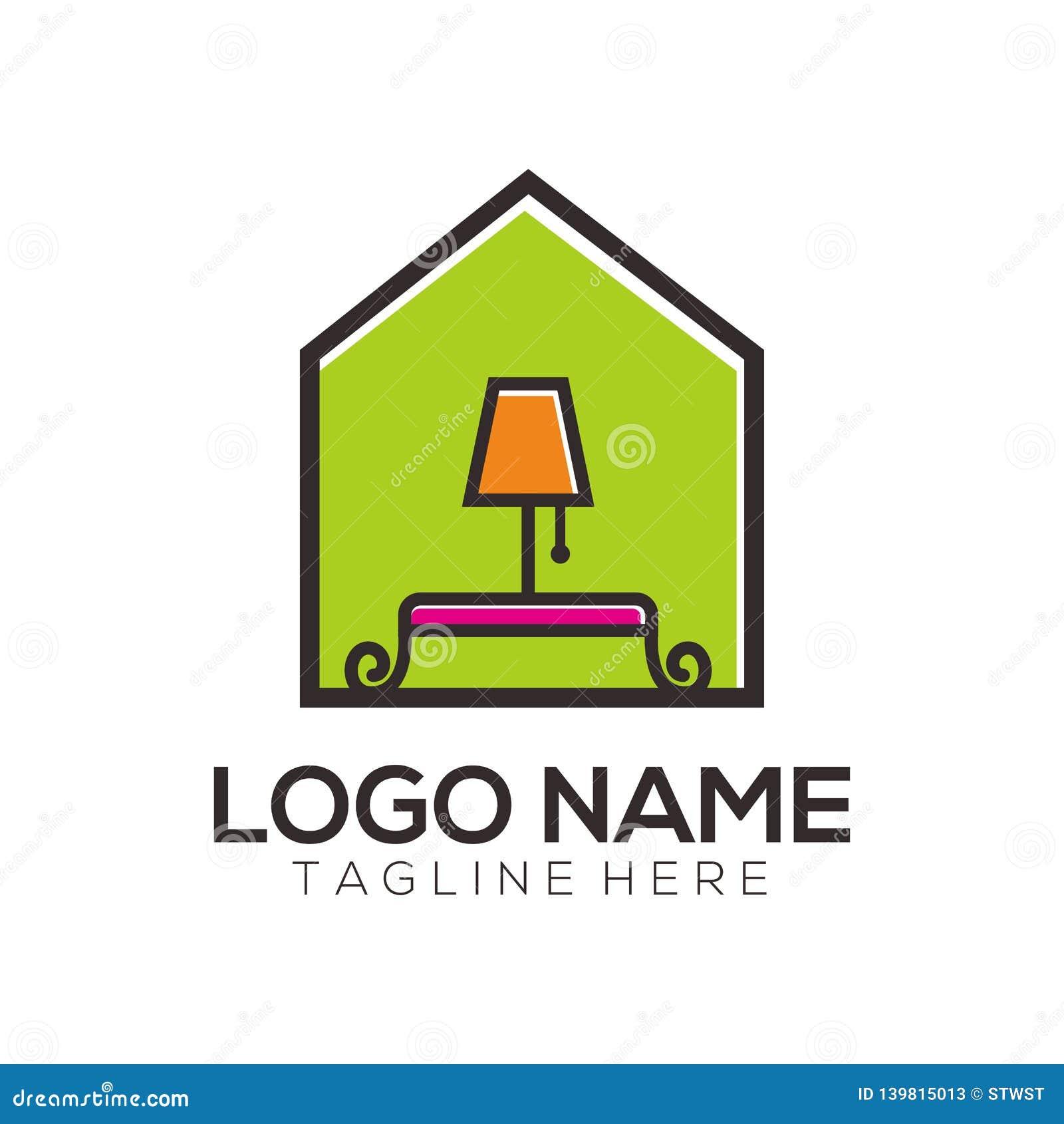 Meblarski logo projekt, ikona i