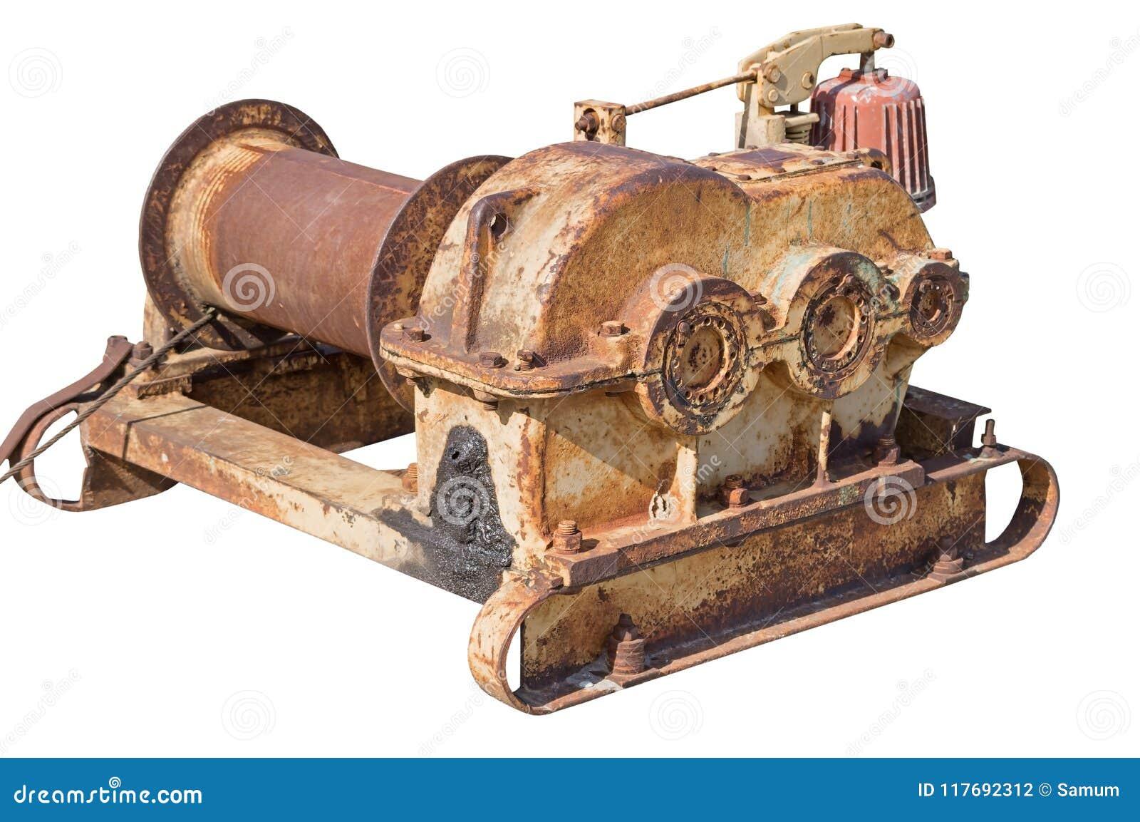 Mecanismo oxidado velho