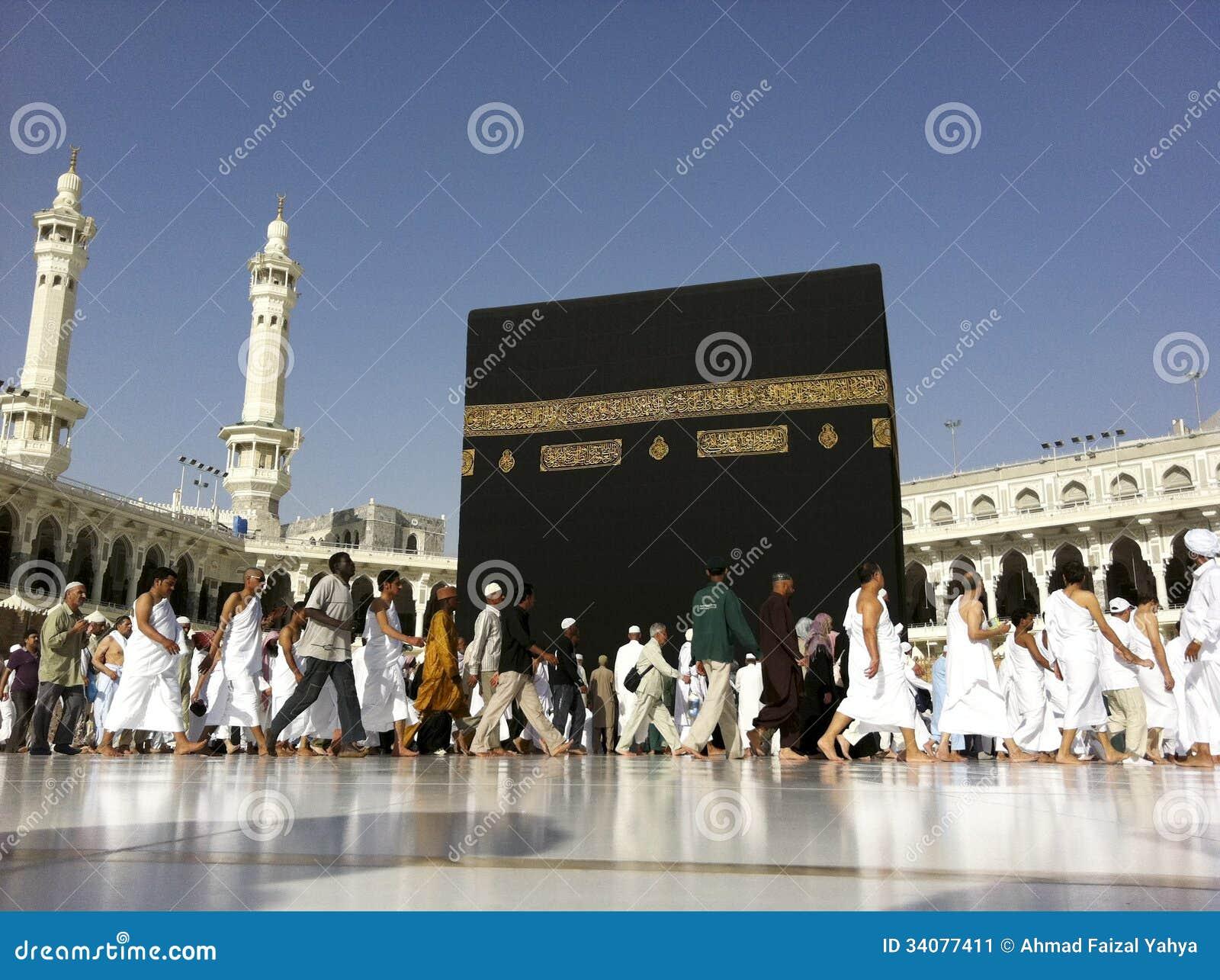 Mecca Feb 20 A Close Up View Of Muslim Pilgrims Circumambul Editorial Photo Image 34077411