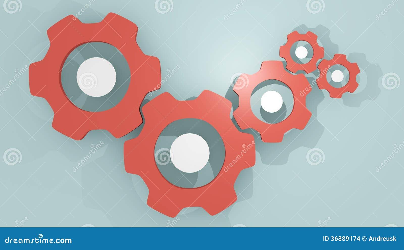 Download Meccanismo di ingranaggi illustrazione di stock. Illustrazione di disegno - 36889174