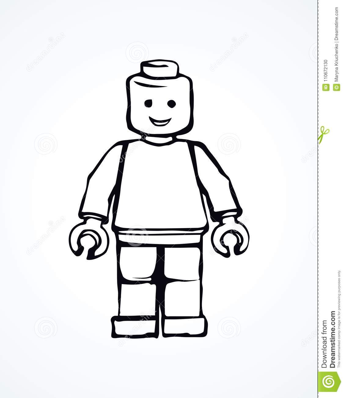 Lego. Vector Drawing Editorial Image. Illustration Of