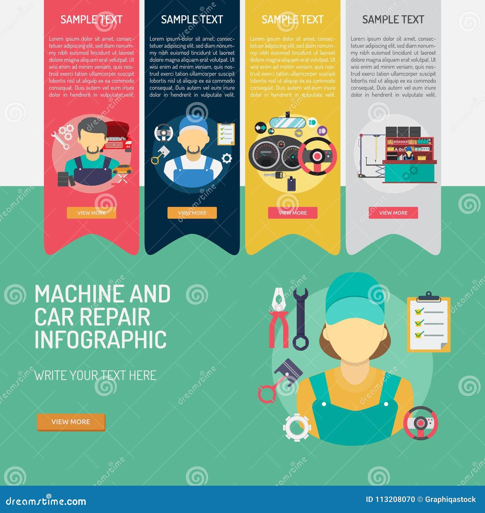 mechanic-car-repair-infographic-complex-