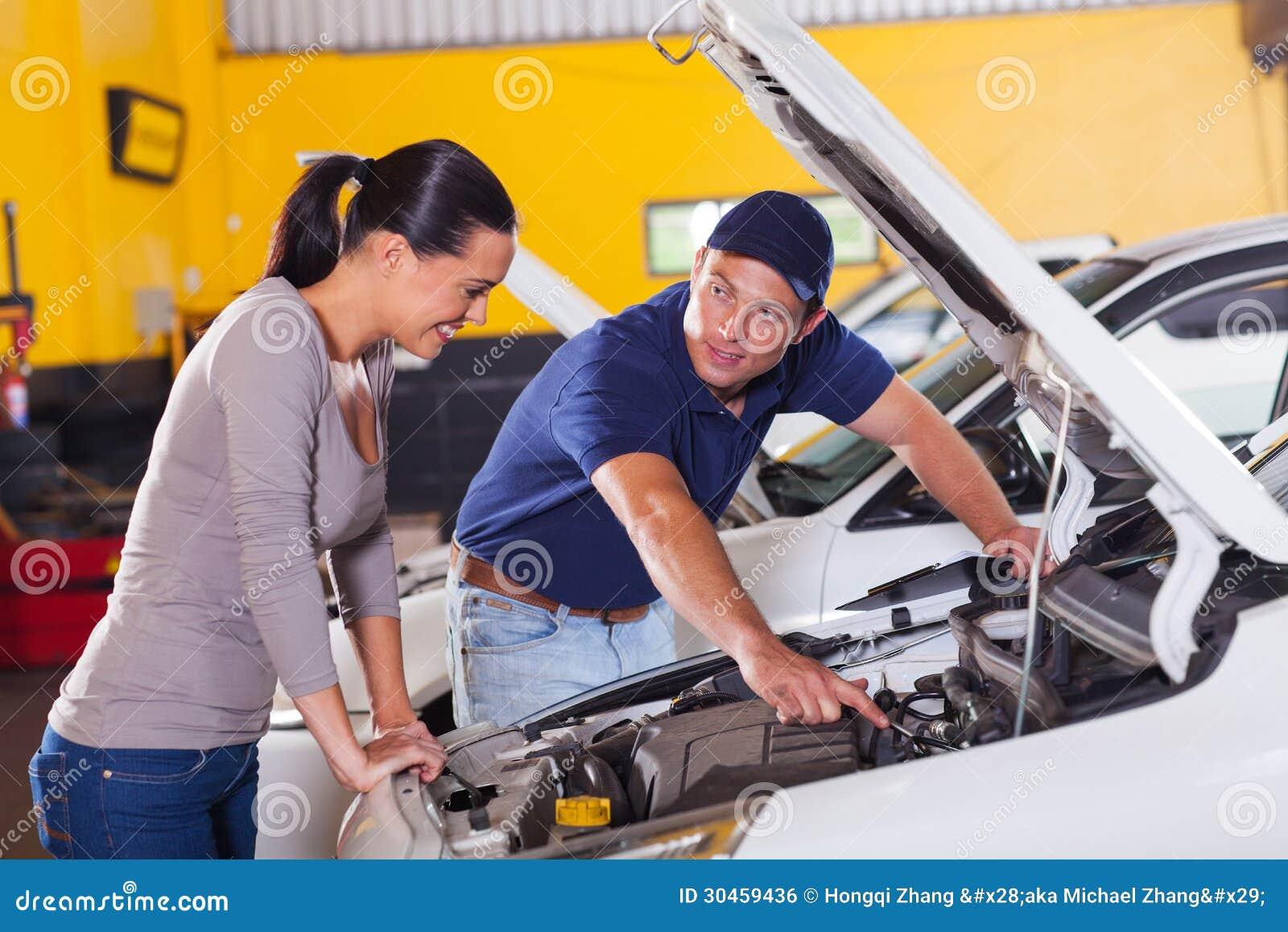 Mechanic customer car