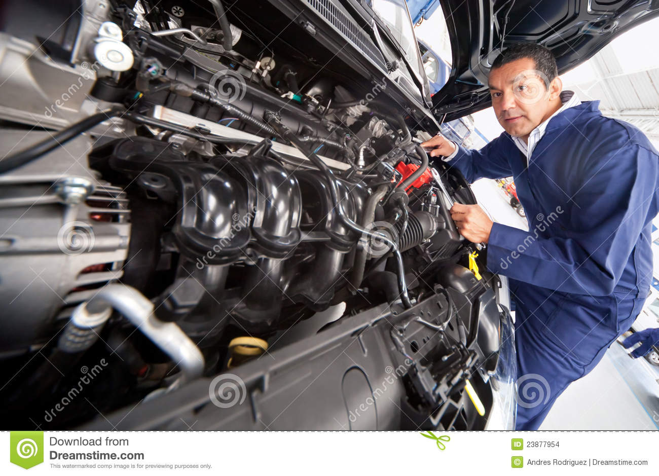 ideas small mechanics garage - Mechanic fixing a car stock photo Image of engineer