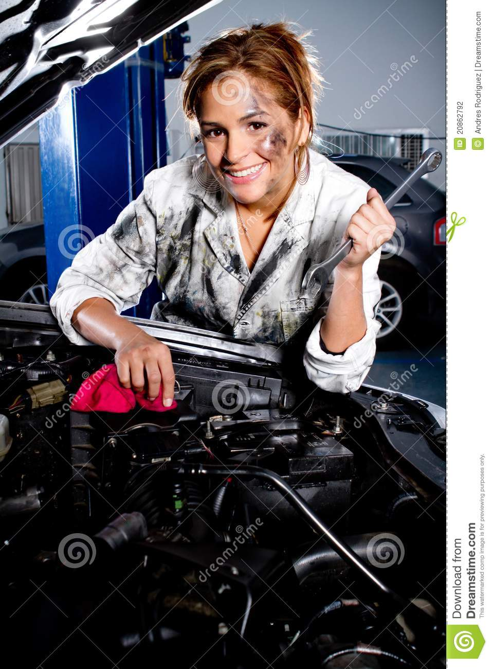 Mechanic In A Garage Stock Photography