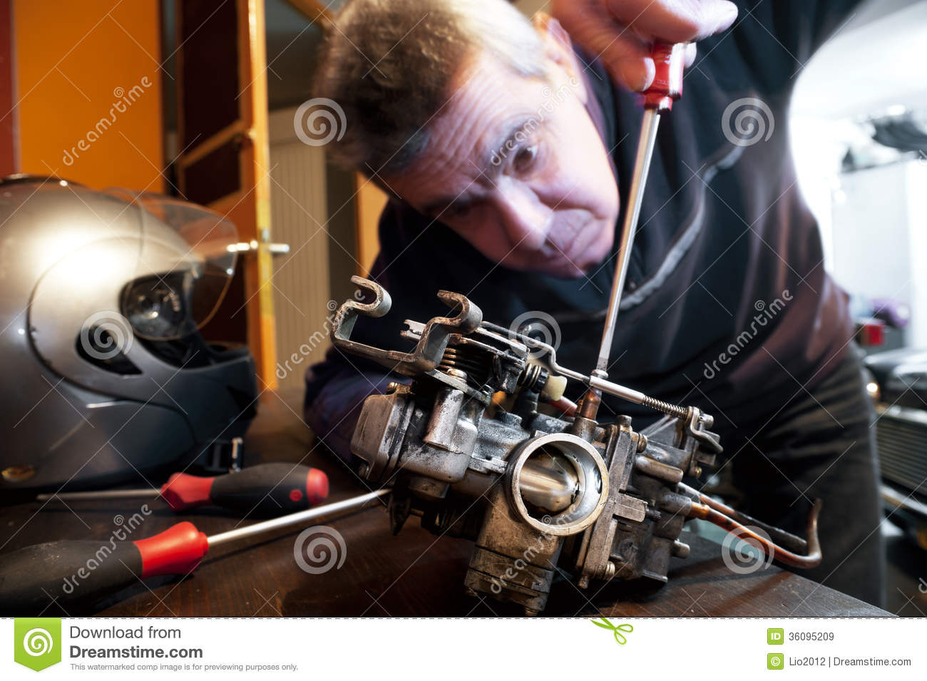 carburetor for motorcycle royalty free stock photography