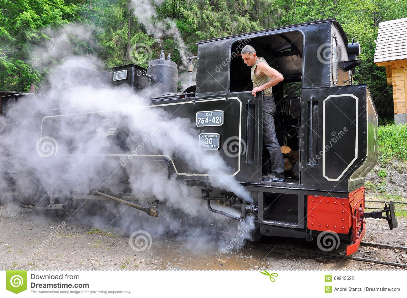Mechanic on a steam train