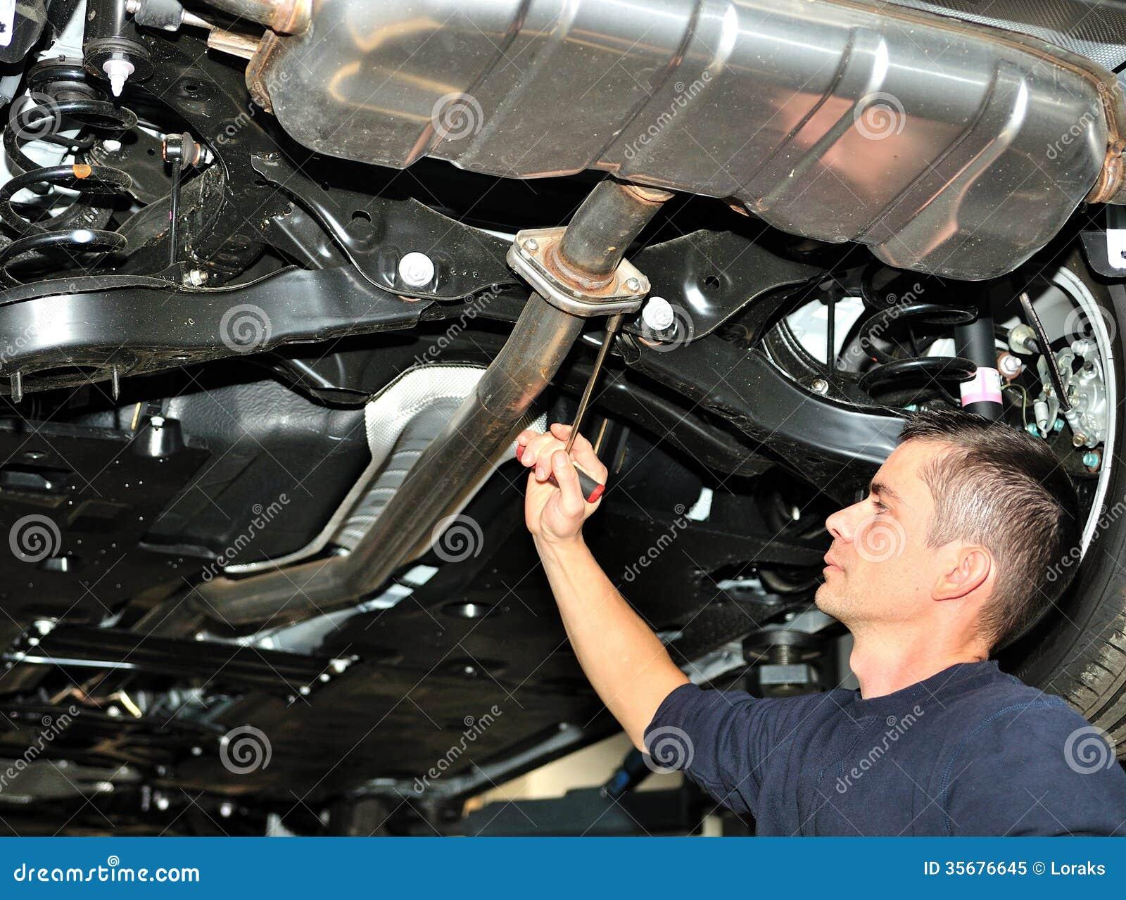 Mechanic Under Car Royalty Free Stock Photo Image 35676645