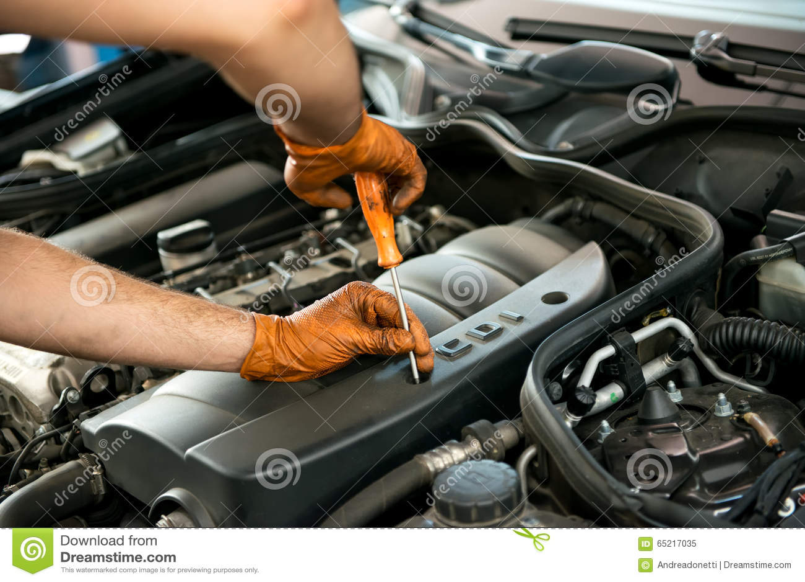 Repairing Car At Dealer