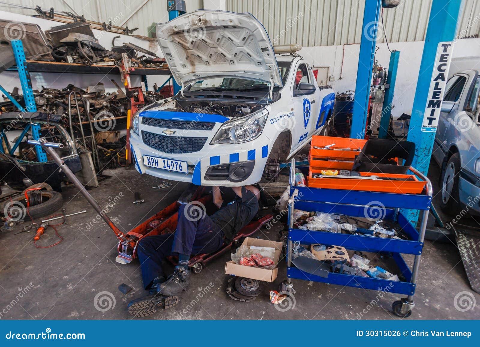 Private Garages For Diesel Machanics : Mechanic man workshop vehicle repairs editorial photo