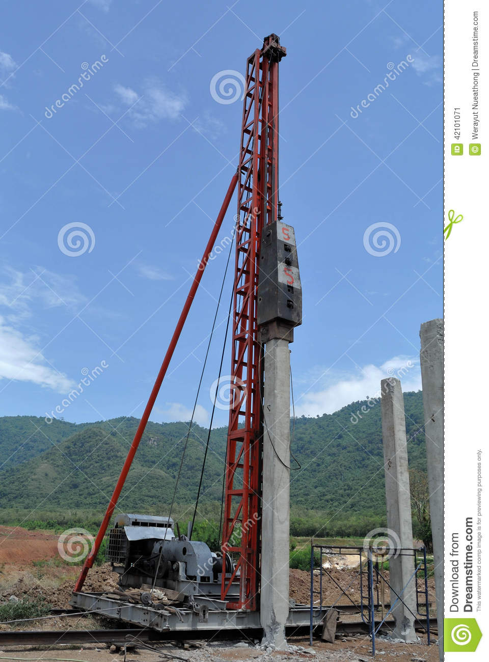 Mechanical construction stock image  Image of construction