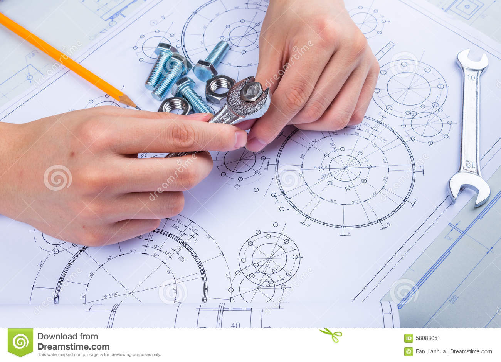 Mechanical Design Engineer in drawing