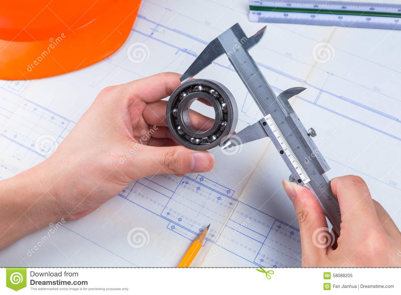 Mechanical Design Engineer in drawing