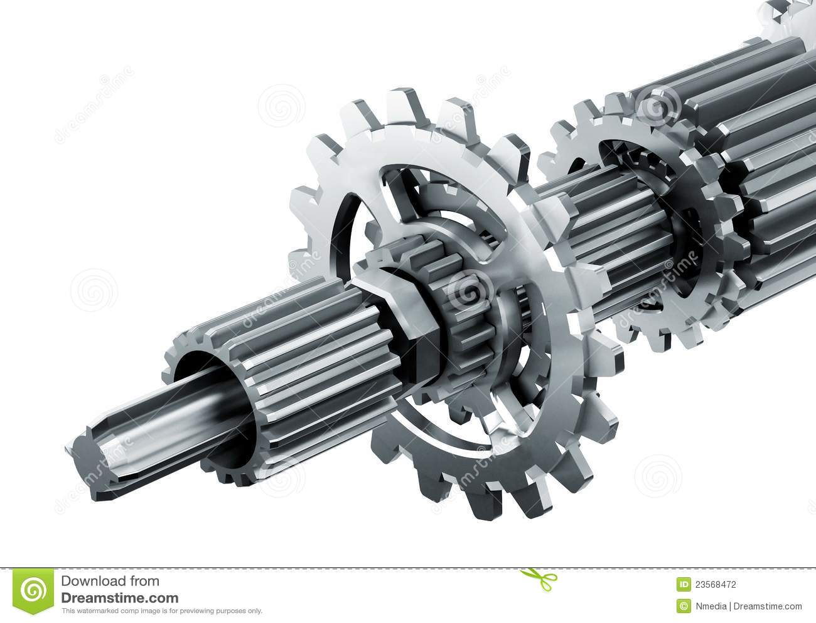 Mechanical Engine Parts Stock Illustration Image Of