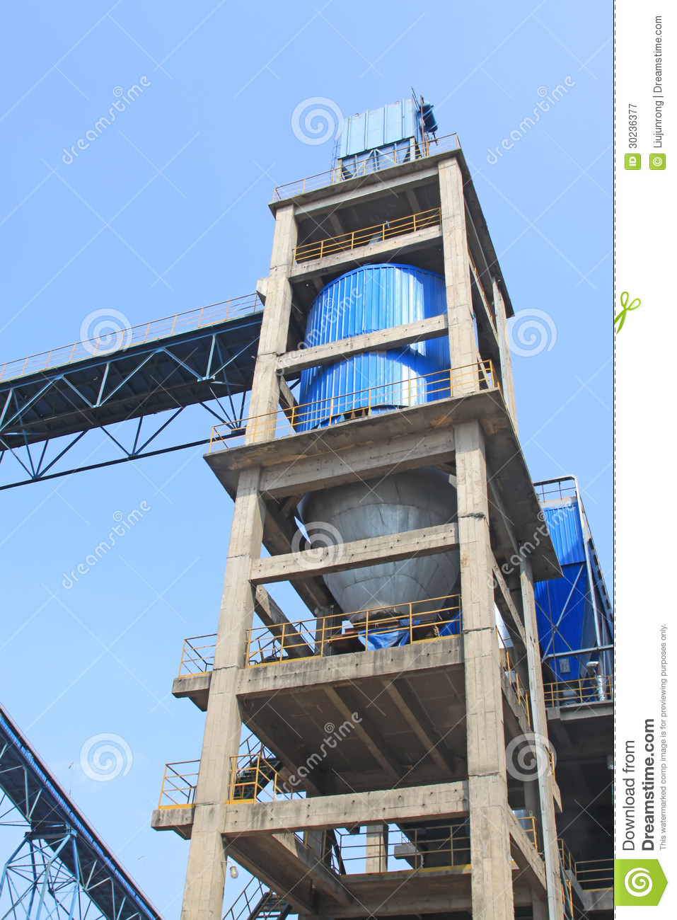 Mechanical Facilities In A Cement Factory Stock Image