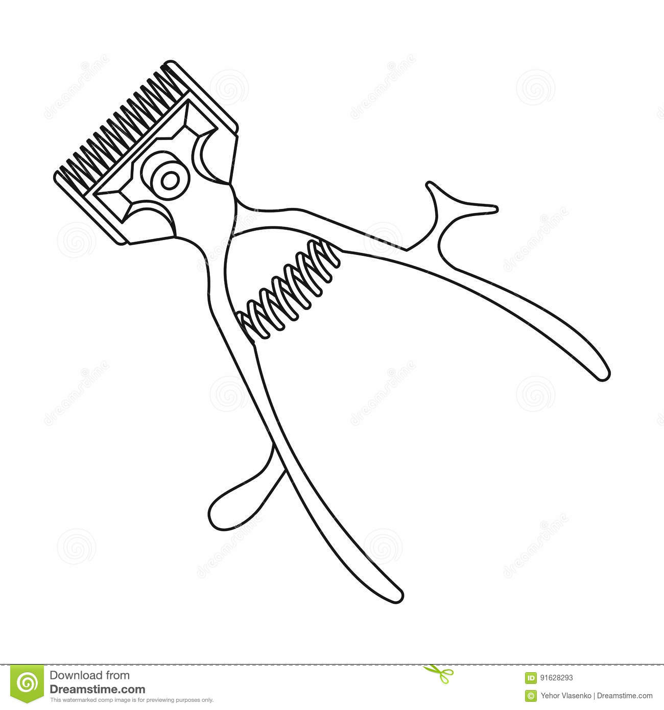 Mechanical Hair Clipper.Barbershop Single Icon In Outline ...