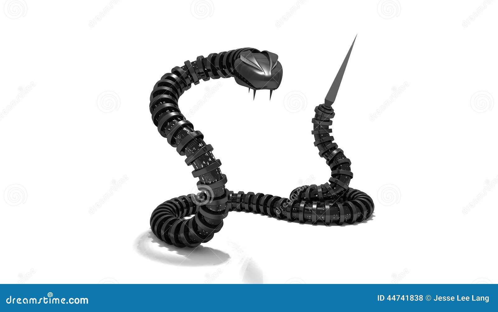 Mechanical Snake Stock Illustration Image 44741838