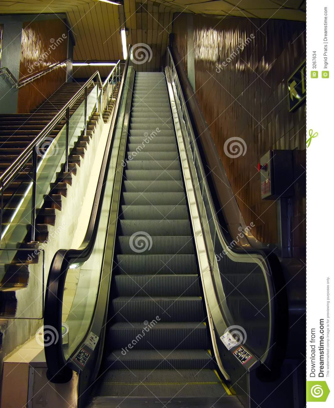 Ny Subway Map Mechanical Stairs.Mechanical Stairs Stock Photo Image Of Stairs Deep Mechanic 3267634