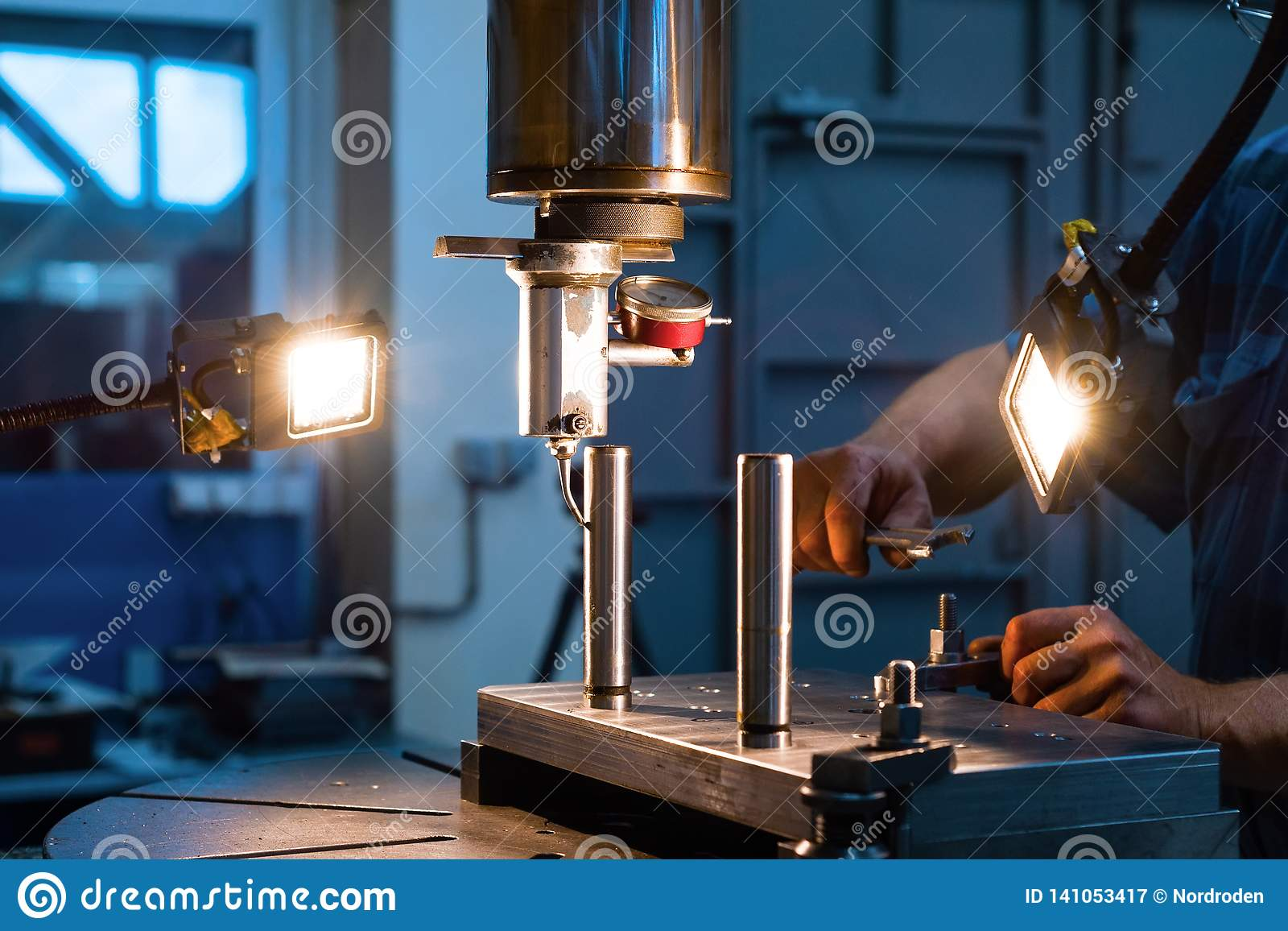 Mechanical Vertical Milling Machine  Stock Image - Image of