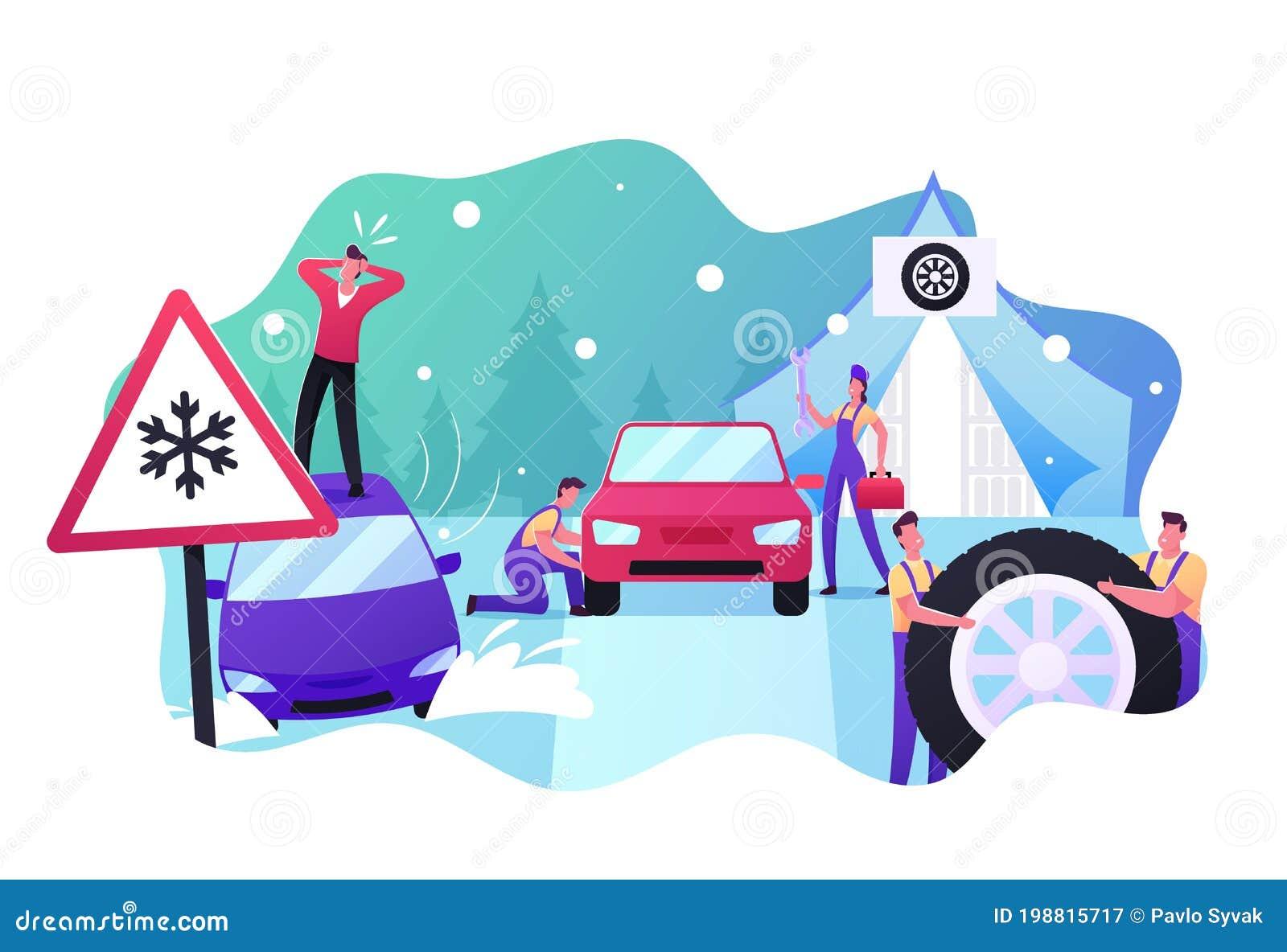Car Snow Stock Illustrations – 8,656 Car Snow Stock Illustrations, Vectors  & Clipart - Dreamstime