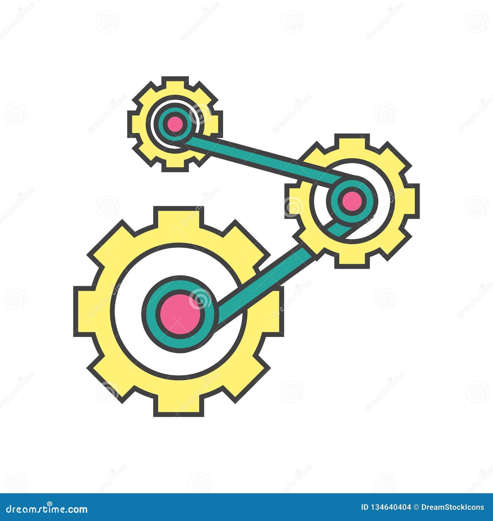 Mechanics icon vector sign and symbol isolated on white background, Mechanics logo concept