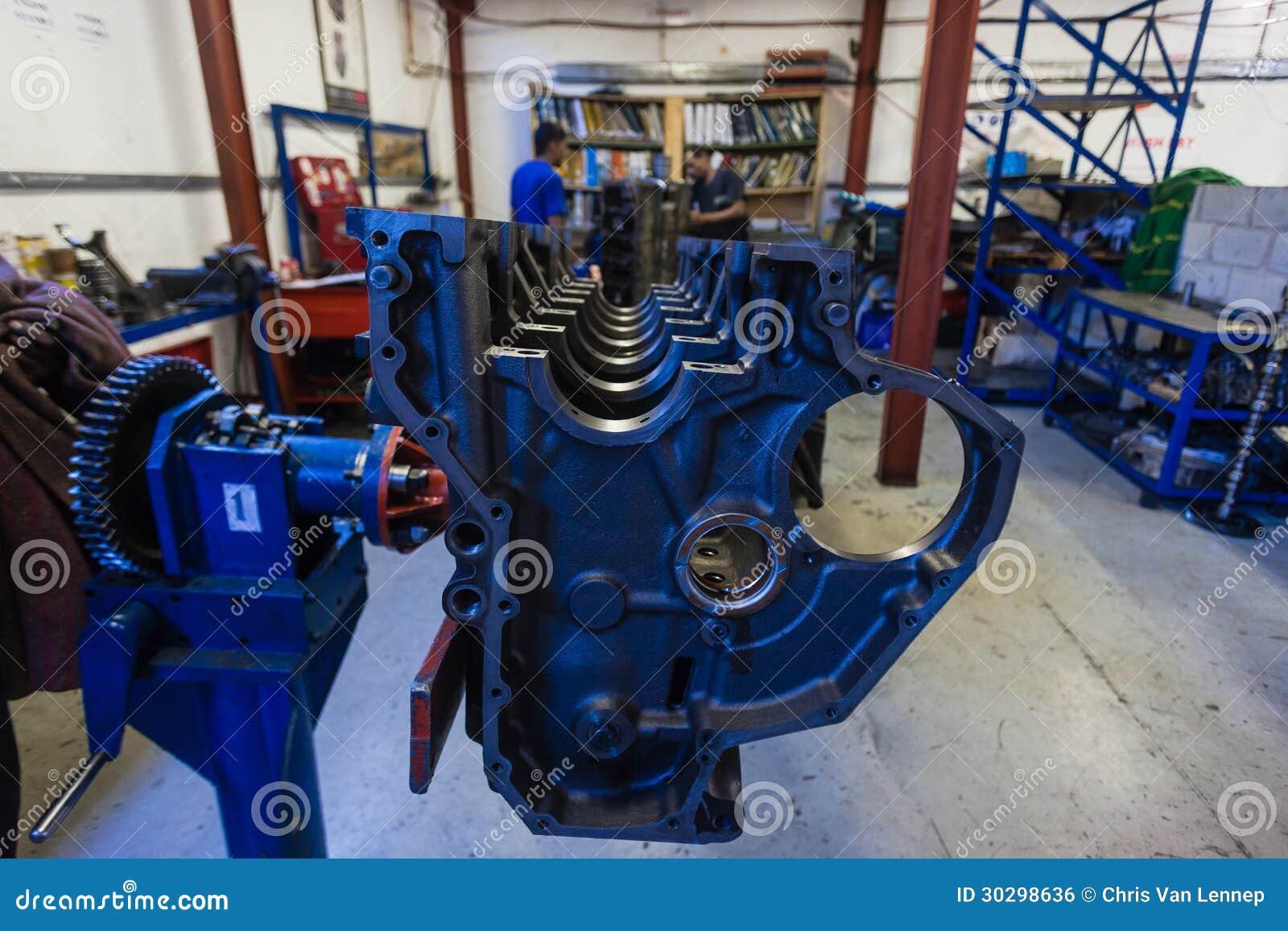 Engine Diesel Rebuild Casing Trucking Editorial Photo