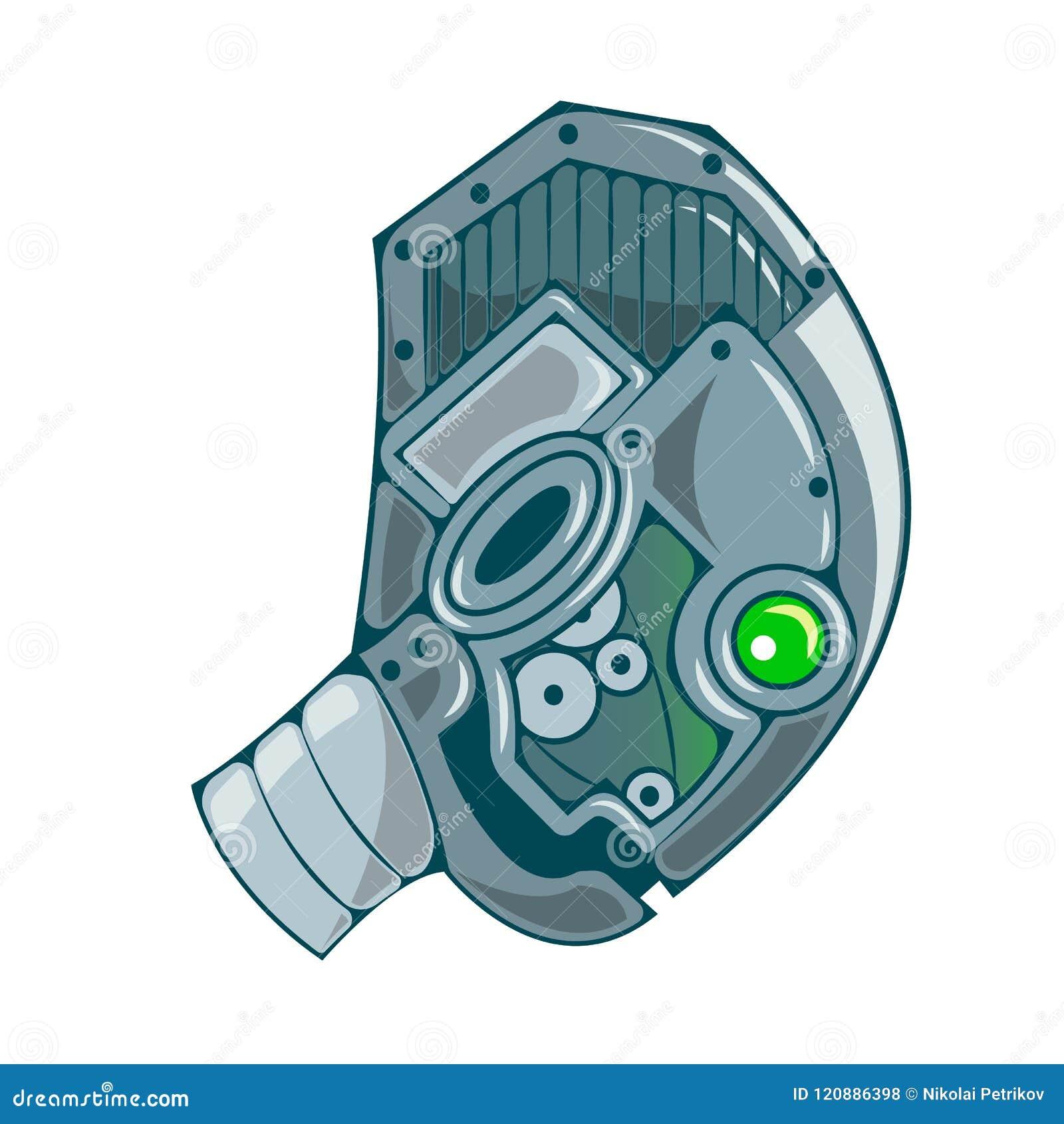 Mechaniczna kierownicza ikona Wektorowa robota mieszkania ikona