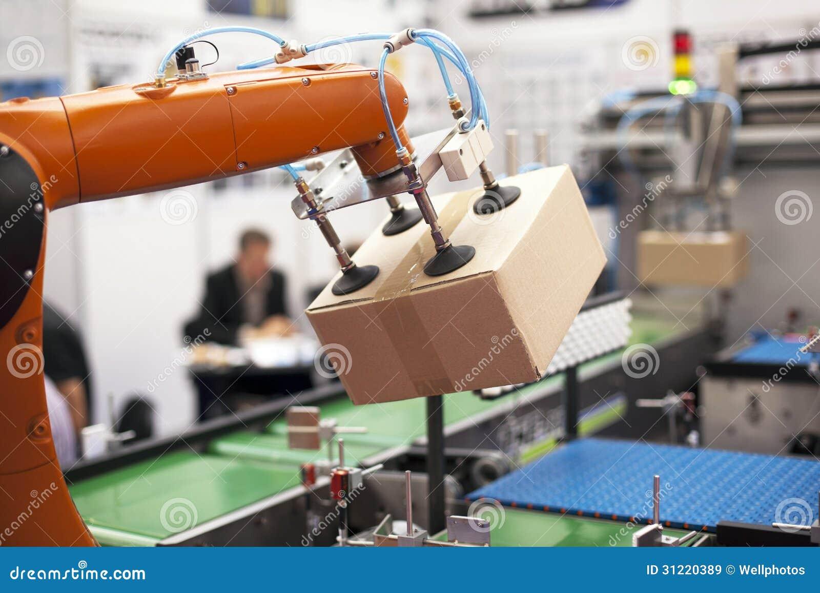 Mechaniczna ręka dla pakować