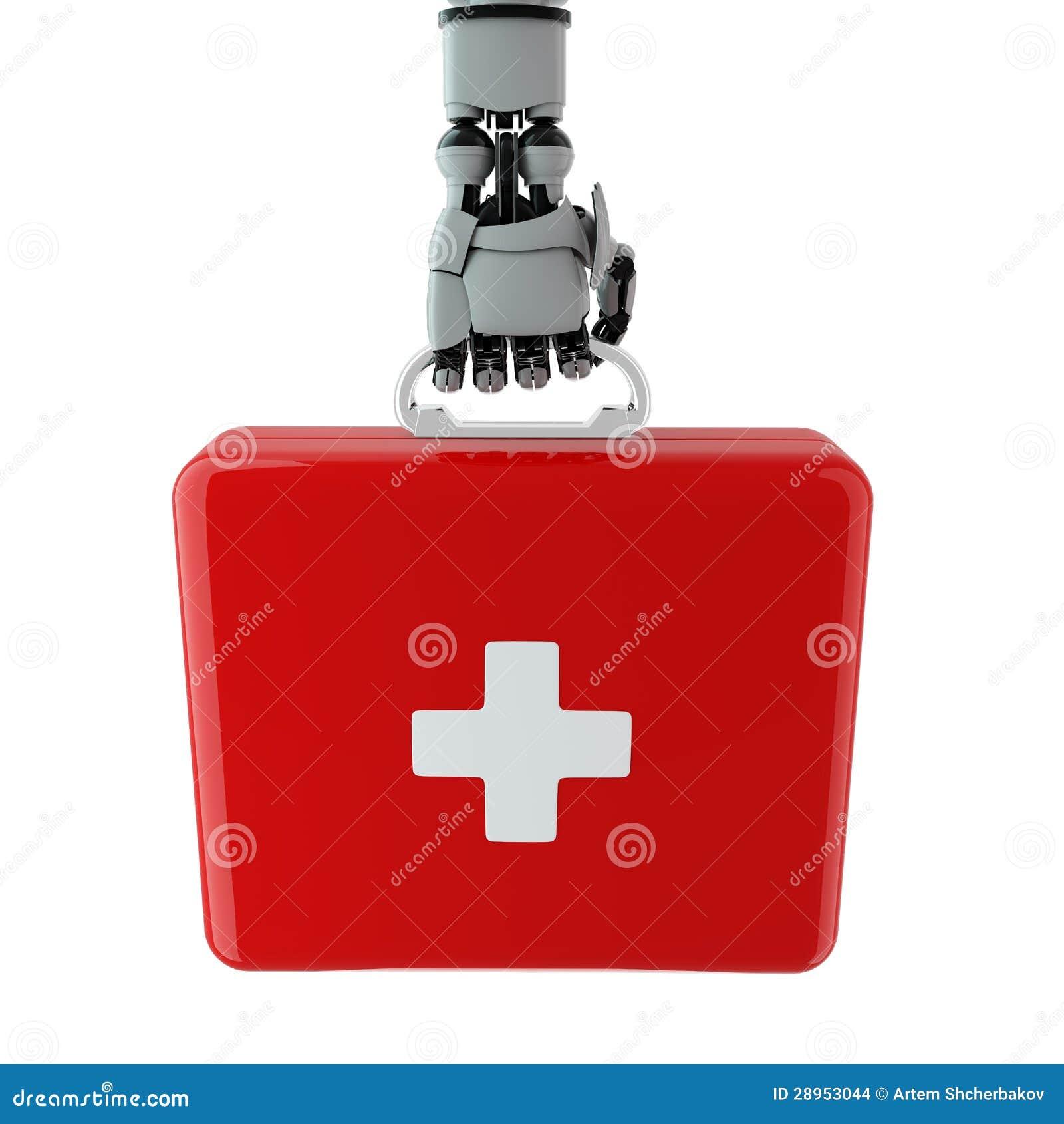 Mechaniczny ręki i pierwszej pomocy zestaw