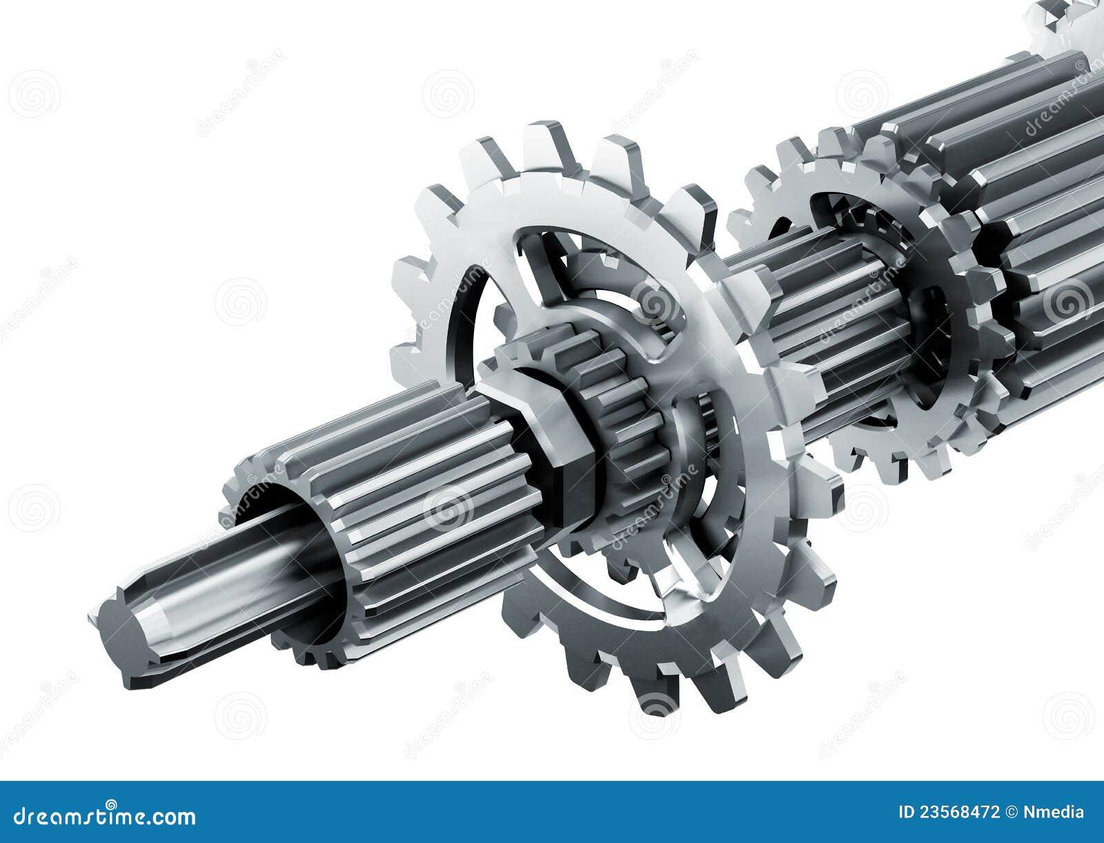 Mechanische Triebwerk-Teile Stock Abbildung - Illustration von ...