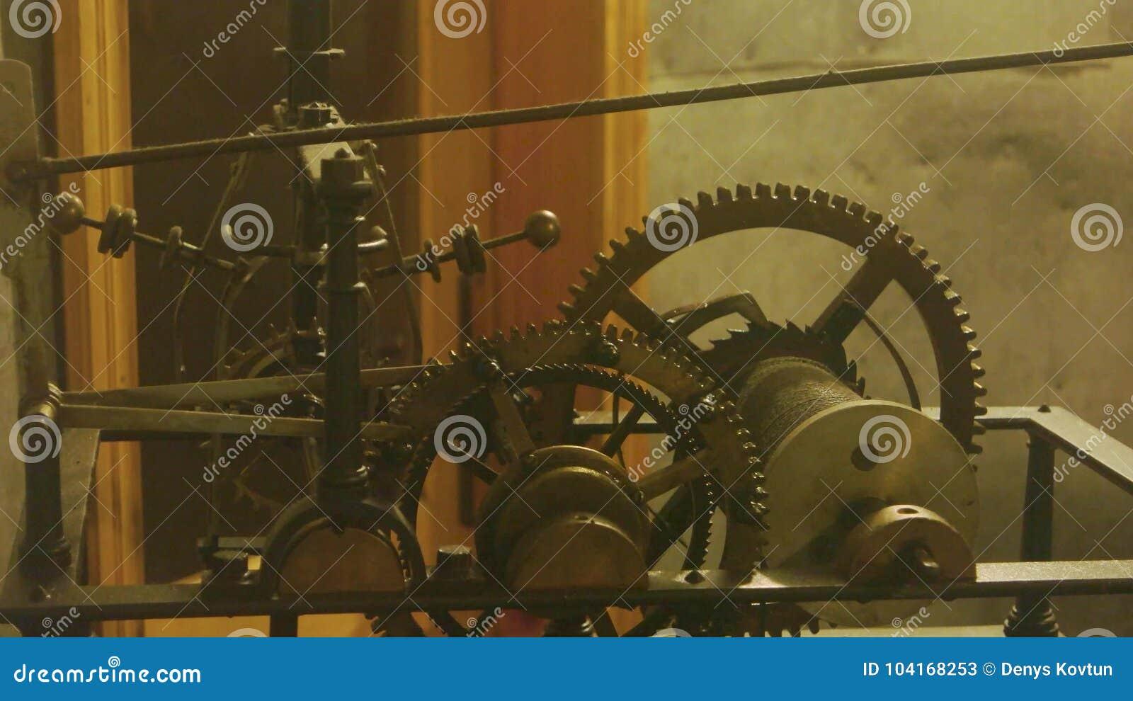 Mechanism of an old clock