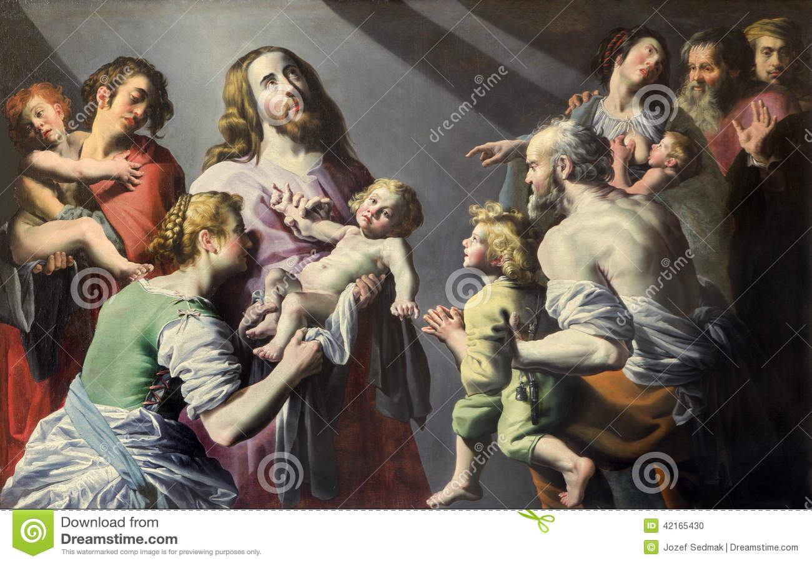 Mechelen - ο Ιησούς με το χρώμα παιδιών στην εκκλησία του ST Johns ή Janskerk από αρχίζει 20 σεντ